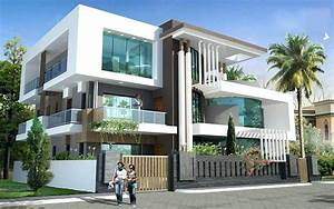 Mesmerizing, 3, Storey, House, Designs, With, Rooftop
