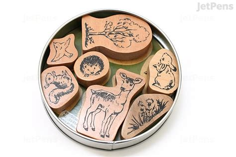 kodomo  kao favorite rubber stamp  piece set forest