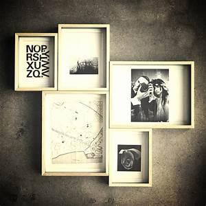Cadre Noir Et Blanc : 20 id es d co r aliser avec des cadres blog d co mydecolab ~ Teatrodelosmanantiales.com Idées de Décoration