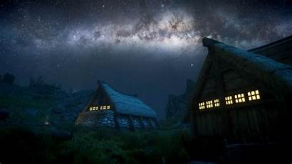Milky Galaxy Way Night Scenery Background Wallpapers
