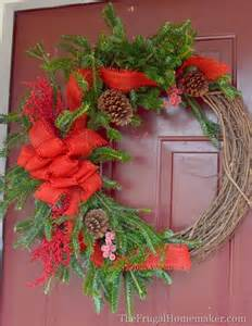 Christmas Wreaths Made with Grapevine