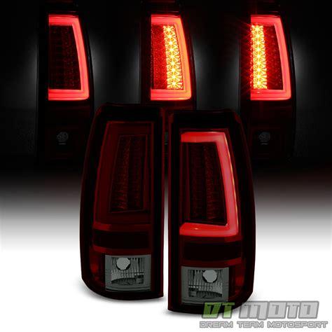 2005 silverado tail lights 2003 2004 2005 2006 chevy silverado red smoke led tube