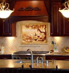 Kitchen Backsplash Tile Murals The Vineyard Tile Murals Tuscan Wine Tiles Kitchen Backsplashes