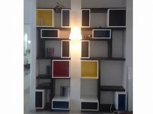 Caisson Bibliotheque Modulable : bibliotheque mondrian r alis e avec caissons ikea metod ~ Edinachiropracticcenter.com Idées de Décoration