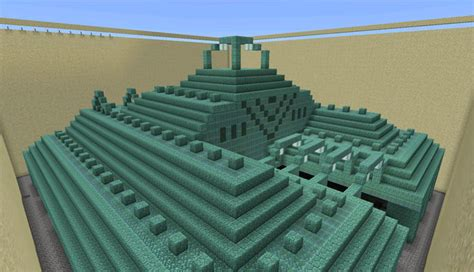 dried  ocean monument creation minecraft pe maps