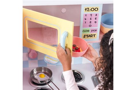 Large Pastel Kitchen Play Kitchen With Hob Oven