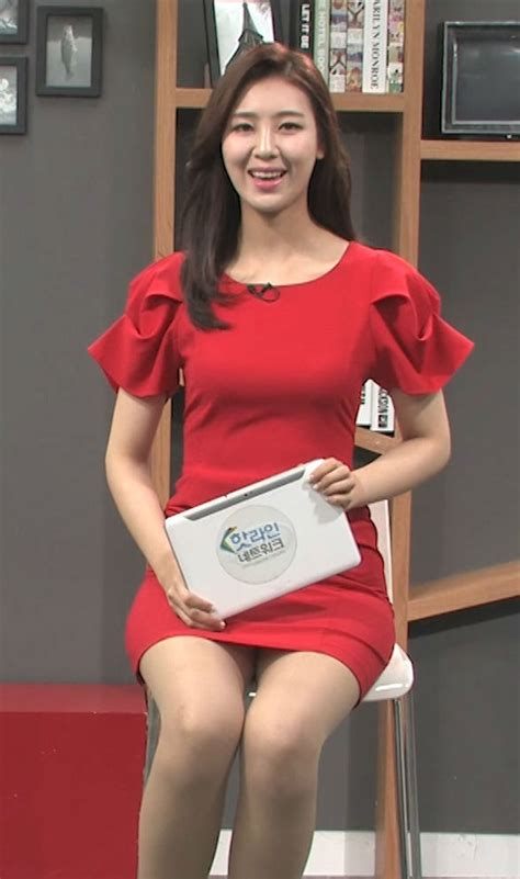 여자연예인 Vs 아나운서 안혜령 아나운서 살색스타킹