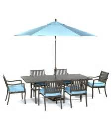 outdoor 7 set 84 quot x 42 quot dining table and 6 dining chairs furniture macy s
