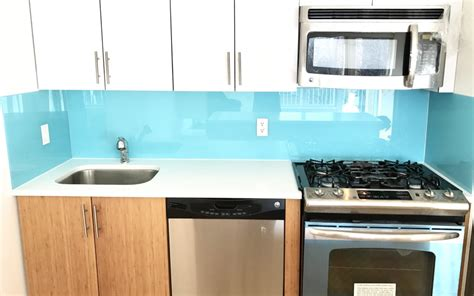 Tempered Glass Kitchen Backsplash
