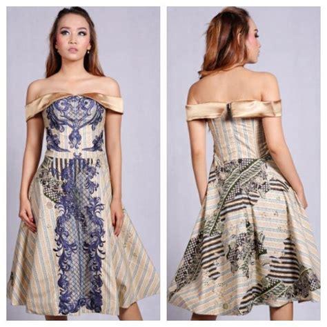 jual baju pesta wanita gaun pesta mewah dress batik modern salur marchesa di lapak