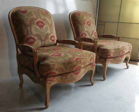 oversized pair of bergeres or lounge chairs drexel