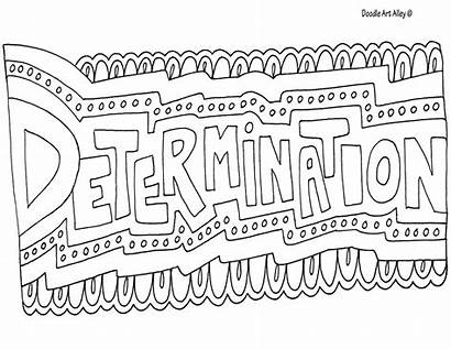 Coloring Word Pages Doodle Determination Alley