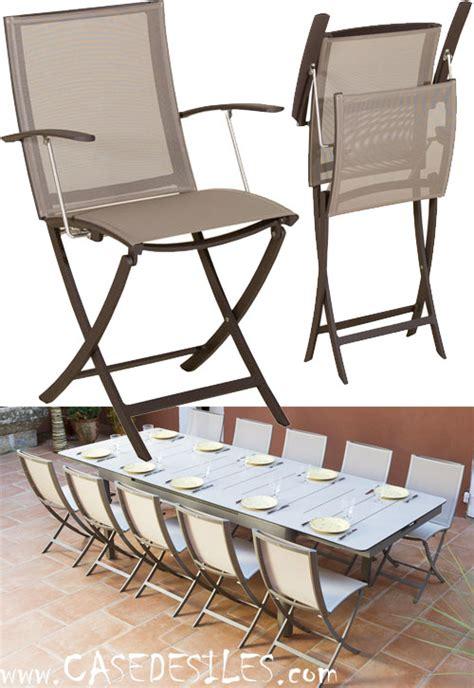 fauteuil de jardin aluminium pliant design 971 pas cher