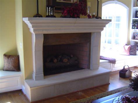 coral stone usacast stone fireplace