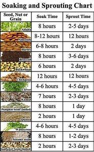 Seed Sprouting Chart Seed Soaking And Sprouting Chart Realfarmacy Com