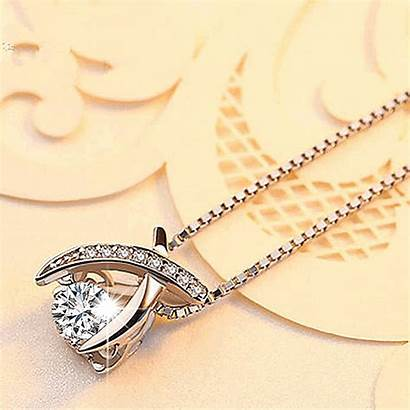 Necklace Dancing Stone Silver Soufeel Jewelry