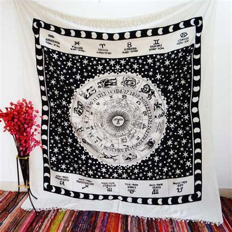 Zodiac Bedroom Decor by Black White Astrology Zodiac Horoscope Tapestry Wall