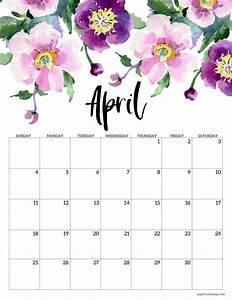 Free Printable Calendar February 2020 Free Printable 2021 Floral Calendar Paper Trail Design