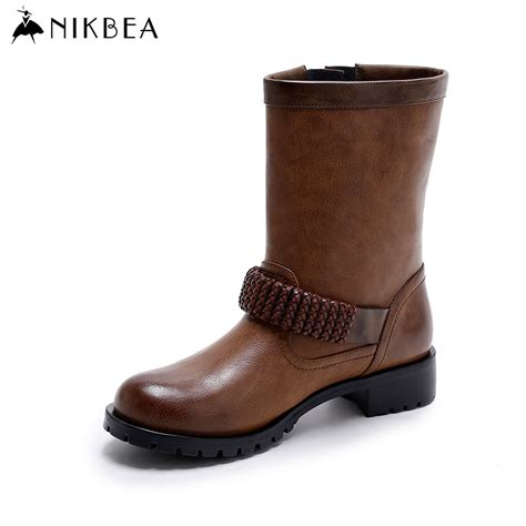 motorcycle boots 2016 aliexpress com buy nikbea vintage women motorcycle boots