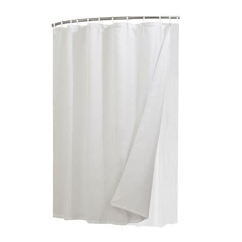 home depot shower curtains glacier bay liner curtain and shower rings combo set