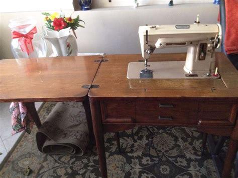 vintage singer sewing machine with cabinet ebay