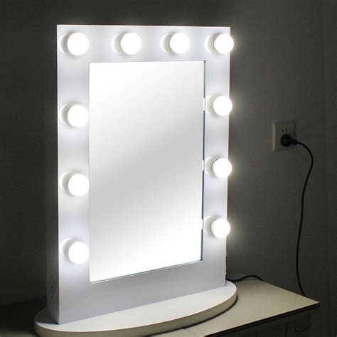 light up mirror with hollywood tabletops lighted makeup mirror vanity white