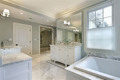 White Tile Bathroom For Luxury Master Bathroom Design