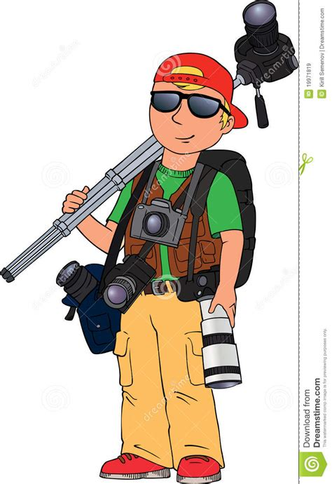 photographer stock vector illustration of journalist 19971819