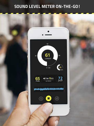 iphone decibel meter db decibel meter pro on the app