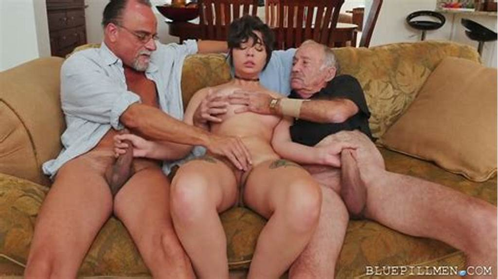 #Teeny #Brunette #Sydney #Sky #Finally #Gets #A #Threesome #With