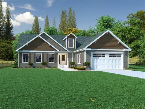 The Binkley, Ranch Modular Home, Exterior Rendering