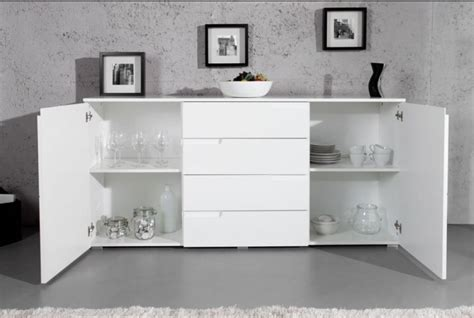 Wow Large White Gloss Sideboard By Furniturefactor.co.uk