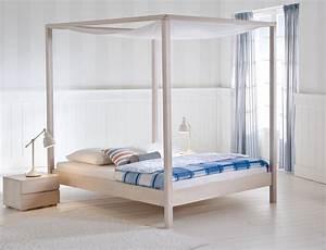 Himmelbett 140x200 Weiß : himmelbett holz 140x200 good bangkok designer himmelbett bambusbett x kopfteil braun pearl ~ Indierocktalk.com Haus und Dekorationen