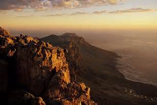 south africa cape town table mountain summit  dusk