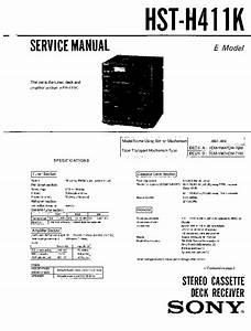 Sony Fh-411k  Hst-h411k Service Manual