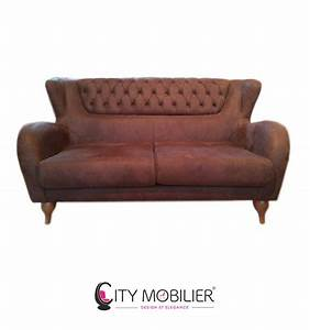 canape lounge capitonne seattle city mobilier With tapis design avec canapé chesterfield tissu