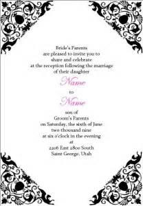 wedding reception template wedding invitation wording wedding reception invitation templates word