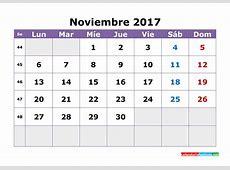 Calendario de noviembre de 2017 4 2019 2018 Calendar