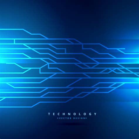 Blue Digital Technology Background Vector