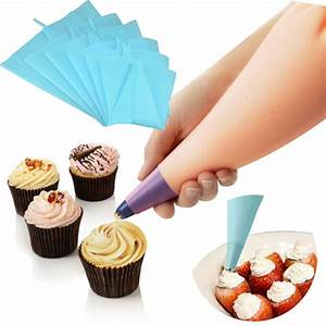 4 Sizes Silicone Reusable Icing Piping Cream Pastry Bag