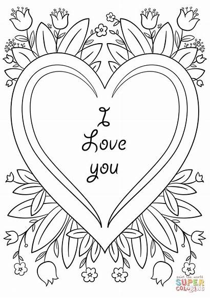 Coloring Card Valentine Pages Printable Valentines Cards