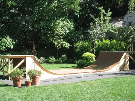 Backyard Half Pipe