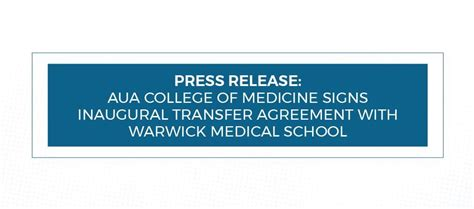 aua students apply transfer university warwick medical