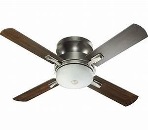 Ceiling lighting flush mount fan with light free