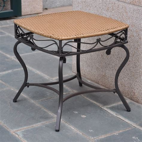 patio side tables outdoor wicker patio side table 4112 st