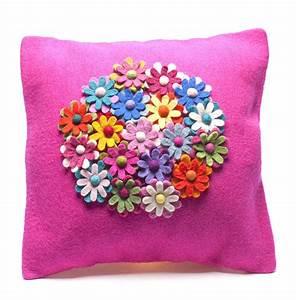 Handmade, Felt, Cushion, Multiple, Design, By, Felt, So, Good