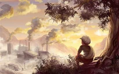 Drawing Boy Mood Landscape Artwork Pixelstalk Paint