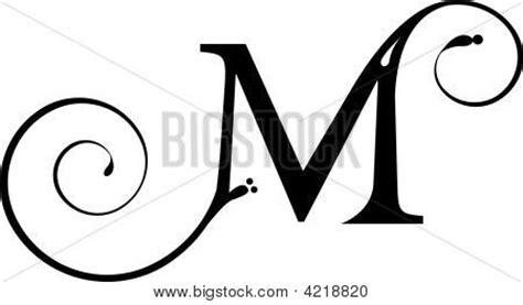 fancy letter m vectores y fotos en stock de letra m bigstock 36789