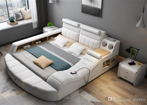 2018 smart bed with multifunction bluetooth tatami