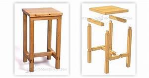 Bench Stool Plans • WoodArchivist